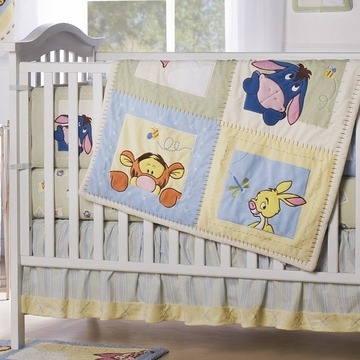 Kids Line Pooh Soft & Fuzzy 4 Piece Crib Set