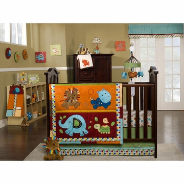KidsLine Animal Parade 9 Piece Crib Bedding Set
