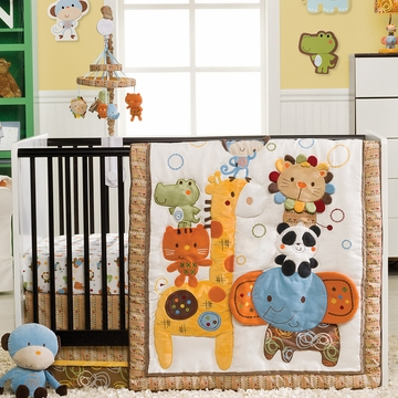 KidsLine Bubble Festival 4-Piece Crib Set