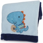 KidsLine Dino Sports Embroidered Boa Blanket