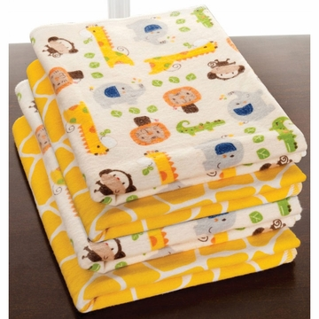 KidsLine Happy Tails 4 Pack Receiving Blankets