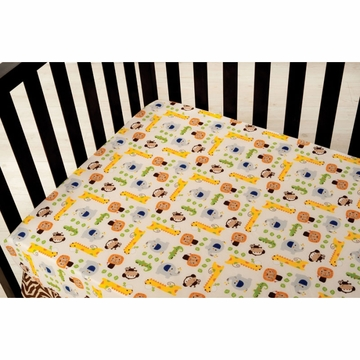 KidsLine Happy Tails Fitted Sheet in Ecru