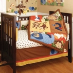 KidsLine Jungle 123 6 Piece Baby Crib Bedding Set