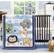 KidsLine Jungle Doodle 4 Piece Crib Bedding Set