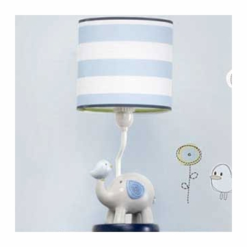 KidsLine Jungle Doodle Lamp Base & Shade