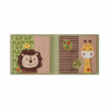 KidsLine Jungle Walk 2 Piece Canvas Wall Art