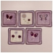 KidsLine Lilac Garden Wall Hanging - Set of 5