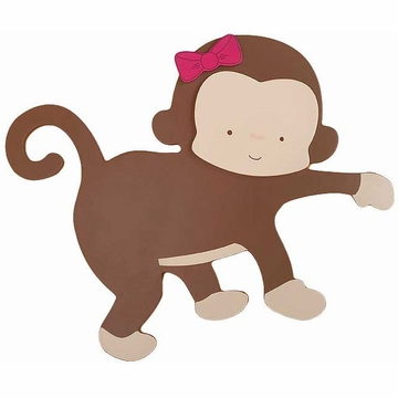 KidsLine Miss Monkey 3D Wall Art