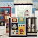 KidsLine Robots Play 4 Piece Crib Bedding Set