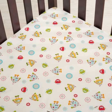 KidsLine Robots Play Fitted Sheet