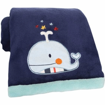 KidsLine Sail Away Embroidered Boa Blanket