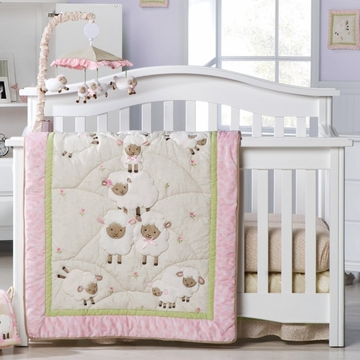 KidsLine Sweet Dreams 4-Piece Crib Set