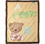 Kidsline Tiddliwinks ABC 123 Jumbo Appliqu� Blanket