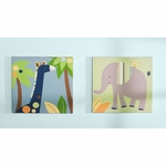 KidsLine Tribal Tails Canvas Wall Art - Set of 2