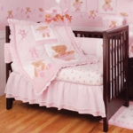 KidsLine Twirling Around 6 Piece Baby Crib Bedding Set