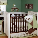 KidsLine Willow Organic 4 Piece Baby Crib Bedding Set
