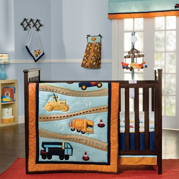 KidsLine Zutano Construction 4 Piece Crib Bedding Set
