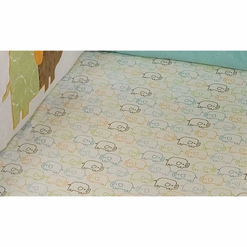 KidsLine Zutano Elephants Fitted Sheet