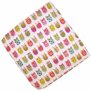 KidsLine Zutano Owls Fitted Sheet