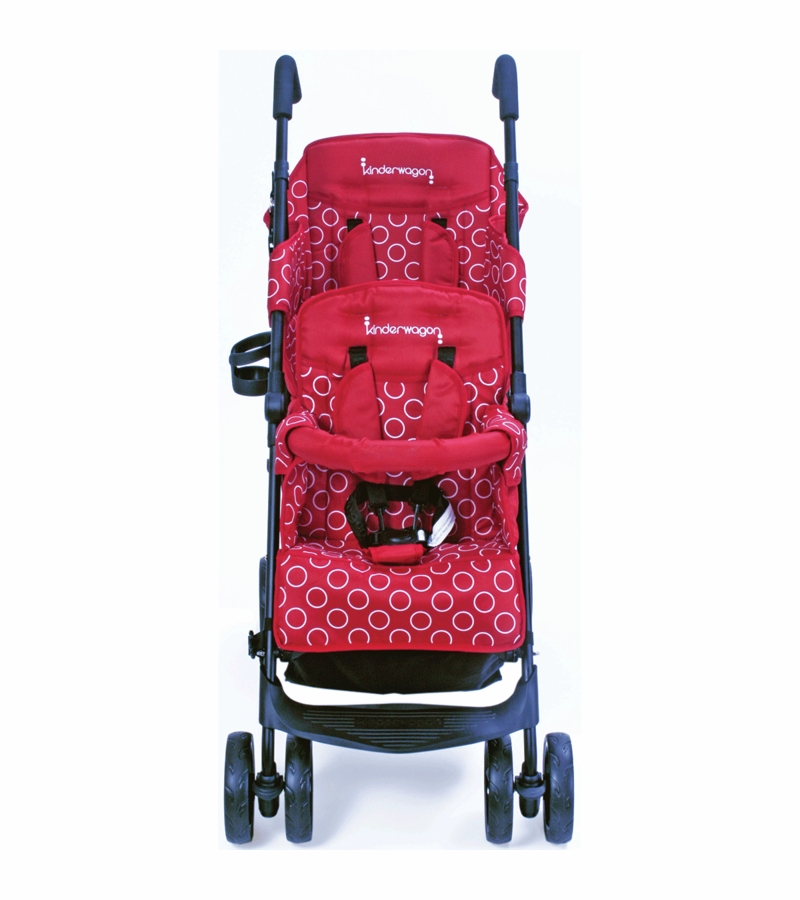 Kinderwagon HOP Tandem Double Umbrella Stroller in Red