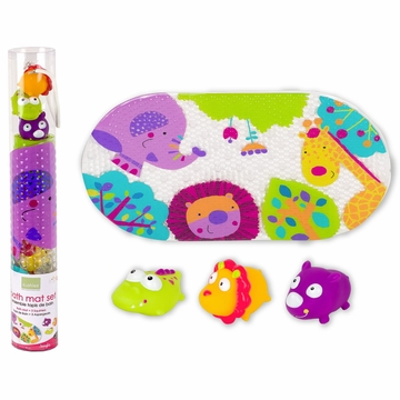 Kushies Bath Mat & Squirter Set - Jungle
