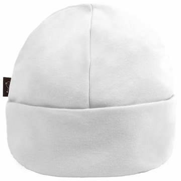 Kushies Cotton Baby Cap, 3-6m - White