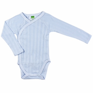 Kushies Long Sleeve Bodysuit, 3-6m - Blue