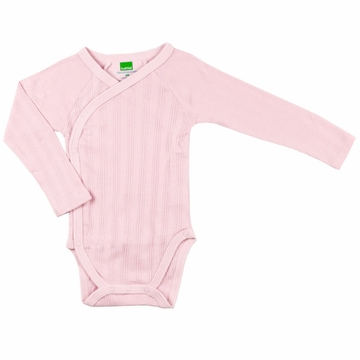 Kushies Long Sleeve Bodysuit, 3-6m - Pink