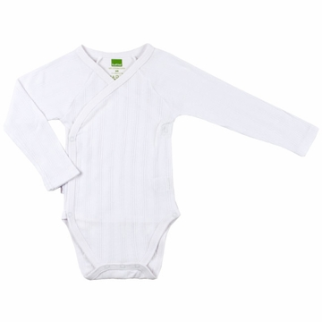 Kushies Long Sleeve Bodysuit, 3-6m - White