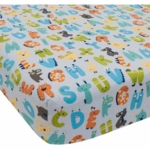 Lambs & Ivy Alpha Baby Crib Sheet