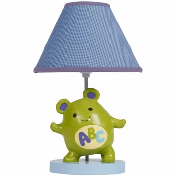 Lambs & Ivy Alpha Baby Lamp with Shade & Bulb