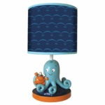 Lambs & Ivy Bubbles & Squirt Lamp with Shade & Bulb