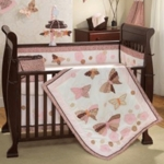 Lambs & Ivy Butterfly Dreams 6 Piece Crib Bedding Set