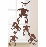 Lambs & Ivy Ceiling Sculpture Brown Monkey