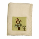 Lambs & Ivy Enchanted Forest Plush Blanket with Applique