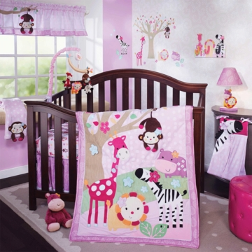 Lambs & Ivy Jelly Bean Jungle 4 Piece Crib Bedding Set