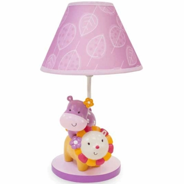 Lambs & Ivy Jelly Bean Jungle Lamp with Shade & Bulb