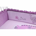 Lambs & Ivy Lavender Jungle Crib Bumper