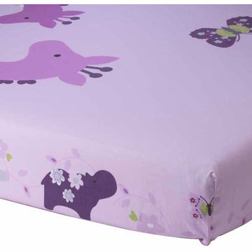 Lambs & Ivy Lavender Jungle Crib Sheet