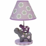 Lambs & Ivy Lavender Jungle Lamp with Shade & Bulb