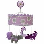 Lambs & Ivy Lavender Jungle Musical Mobile