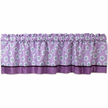 Lambs & Ivy Lavender Jungle Window Valance