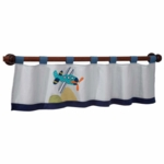 Lambs & Ivy Little Traveler Window Valance