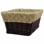 Lambs & Ivy Papagayo Basket with Liner in Espresso