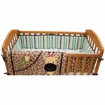 Lambs & Ivy Peek A Boo Jungle Mini Crib Bumper