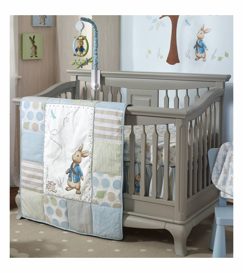 lambs ivy peter rabbit 4 piece crib bedding set