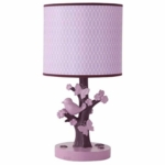 Lambs & Ivy Plumberry Lamp with Shade & Bulb