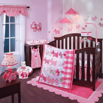 Lambs & Ivy Puppy Tales 4 Piece Crib Bedding Set