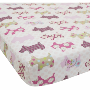 Lambs & Ivy Puppy Tales Crib Sheet
