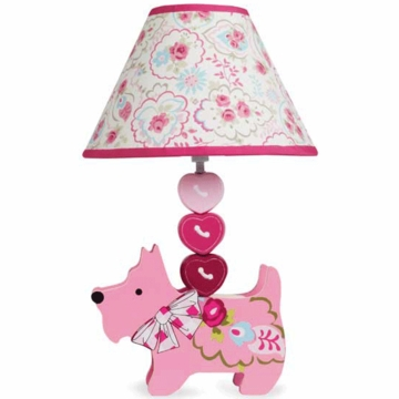 Lambs & Ivy Puppy Tales Lamp with Shade & Bulb